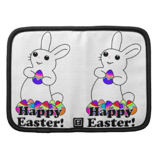 Easter Bunny with Colored Easter Eggs Folio Planner