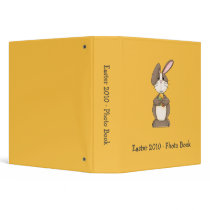 Easter Bunny with Colored Eggs Binder