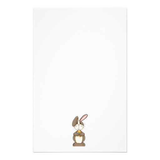 Easter Bunny with Colored Eggs Stationery Paper