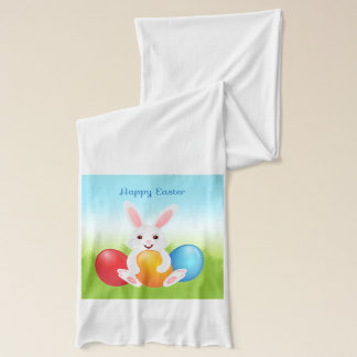 Easter Bunny with Colorful Easter Eggs Scarf