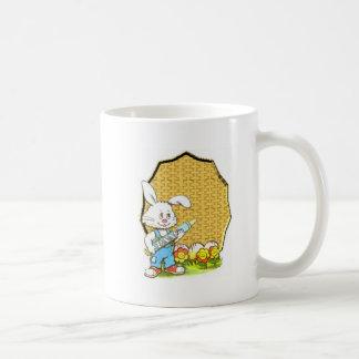 Easter bunny with crayon mugs