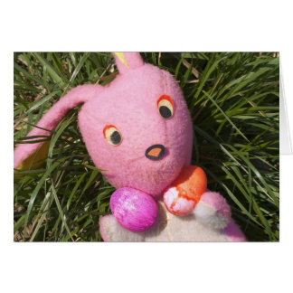 Easter Bunny with Easter Eggs Card