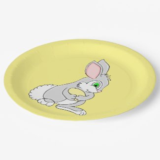Easter Bunny with Egg Paper Plates 9 Inch Paper Plate