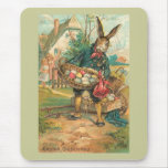 Easter Bunny With Eggs For Children Mouse Pad