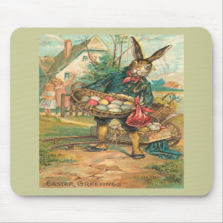 Easter Bunny With Eggs For Children Mouse Mats