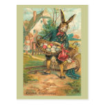 Easter Bunny With Eggs For Children Post Cards