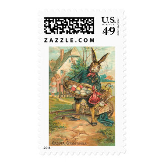 Easter Bunny With Eggs For Children Postage