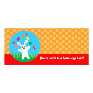 Easter bunny with eggs custom invitations