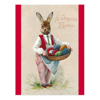 Easter Bunny with Eggs Postcard