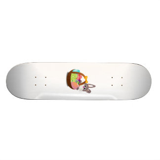 Easter Bunny with Eggs Skateboard Deck