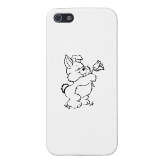 Easter Bunny with Flower iPhone 5/5S Case