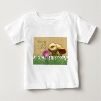 Easter bunny with flowers baby T-Shirt