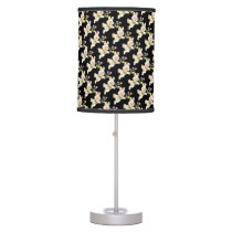 Easter Bunny with flowers cartoon Desk Lamp