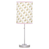 Easter Bunny with flowers cartoon Table Lamp
