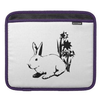 Easter Bunny with Flowers iPad Sleeve
