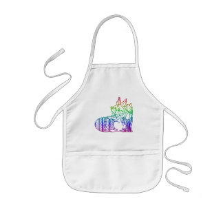 Easter Bunny with flowers Kids' Apron