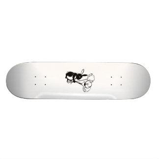 Easter Bunny with Flowers Skate Deck