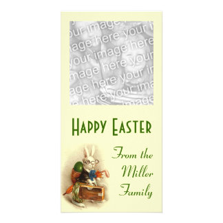 Easter Bunny with Glasses Picture Card