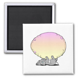 Easter Bunny with Large Egg Fridge Magnets