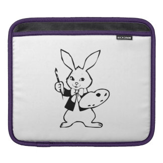 Easter Bunny with Paint Brush Sleeves For iPads