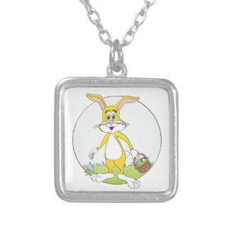 Easter Bunny Yellow Rabbit Cartoon Necklaces