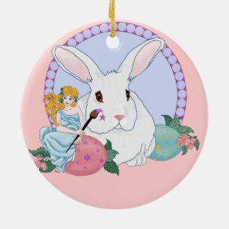 Easter Bunny's Helper Christmas Tree Ornaments