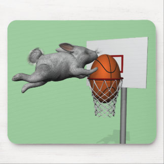 Easter Bunny's Perfect Slam Dunk Mouse Pad
