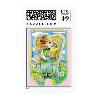 Easter Bunny's Surprise Postage Stamp