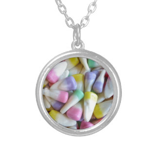 Easter Candy Corn Silver Plated Necklace