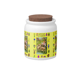 Easter candy Jar, Boy with sheep