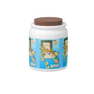 Easter candy Jar, Chicks and shamrock 1