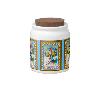Easter candy Jar, Elf with hens