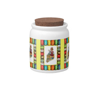 Easter candy Jar, Girl with eggs
