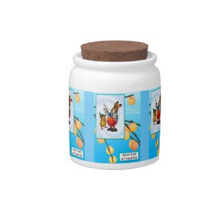 Easter candy Jar, Rabbit and chick Candy Jars