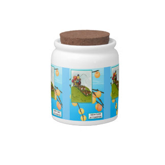 Easter candy Jar, Rabbit carriage