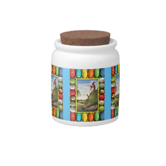 Easter candy Jar, Rolling eggs Candy Jar