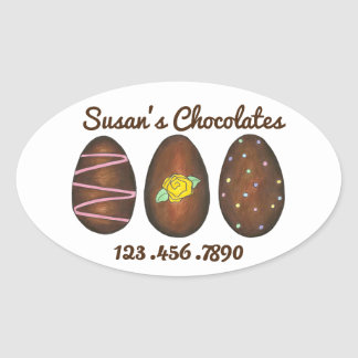 Easter Candy Personalized Chocolate Eggs Sticker