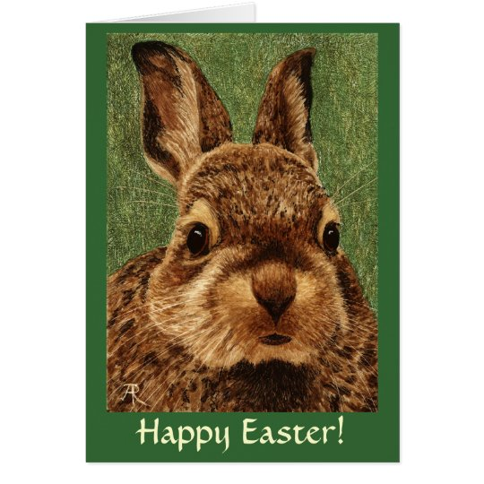 Easter Card - Baby Cottontail Rabbit