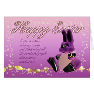Easter Card - Bunny And Bumble Bee