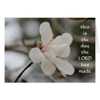Easter Card: Magnolia Bloom, w verse of faith Card
