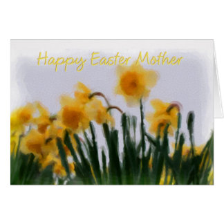 Easter Card - Mother Daffodils