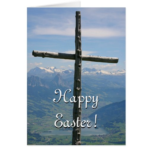 Easter Card - Mountain Cross