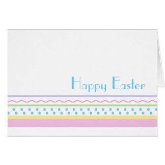 Easter Card - Simple Pastel Stripes