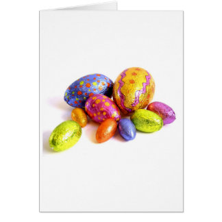 Easter Card with Candy Eggs