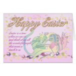 Easter Card With Cats And Ball Of Yarn