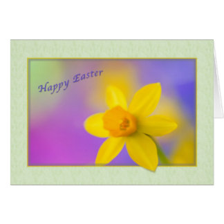 Easter card with daffodil