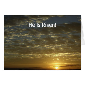 Easter Card with Gospel message inside