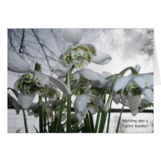 Easter Card with Snowdrops