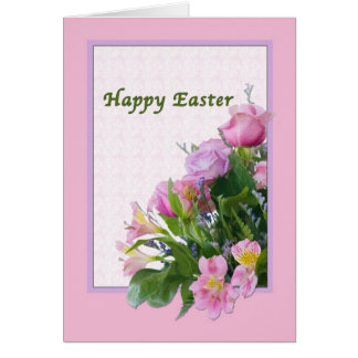 Easter Card with Spring Flowers
