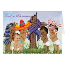 Easter Card with Vintage Children